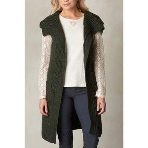 NWT prAna Thalia Cozy Knit Green Sweater Vest